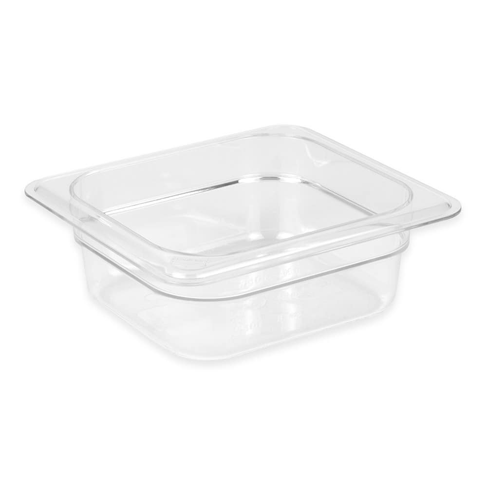 "Cambro 62CW135 Camwear Food Pan - 1/6 Size, 2 1/2""D, Clear"
