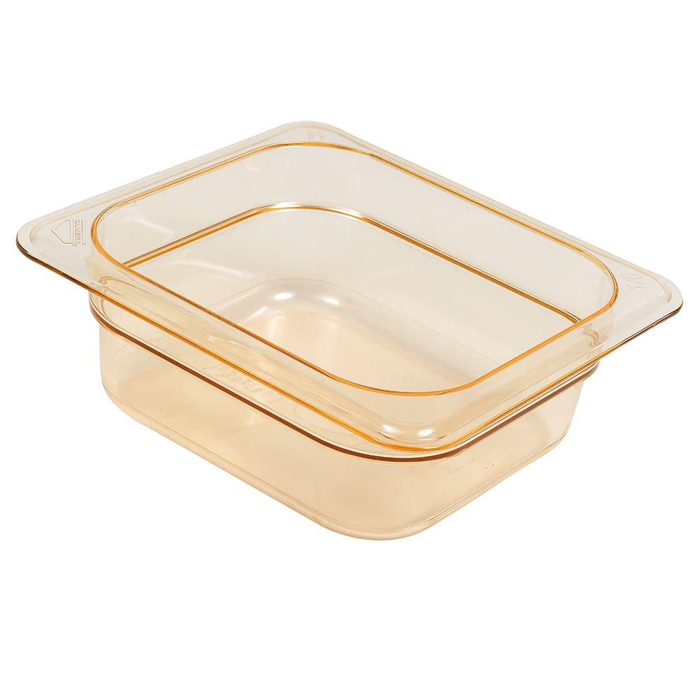 Cambro 62hp150 Pan Hot Food 1 6 Size 2 Amber