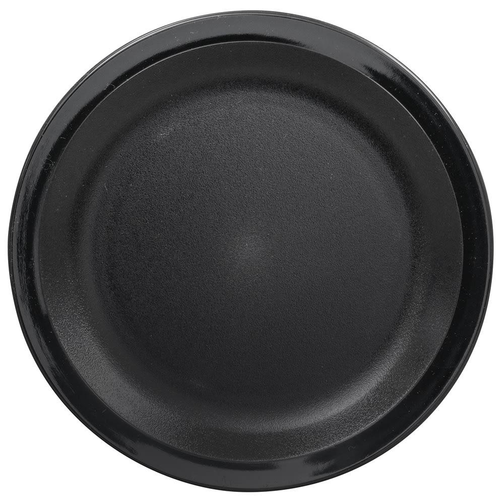 "Cambro 65CWNR110 6-9/16"" Camwear Plate - Black"