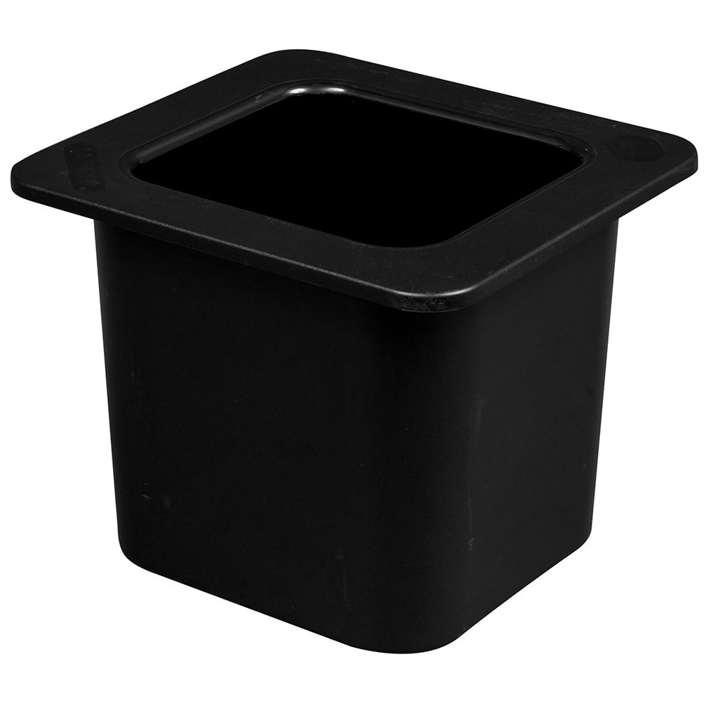 "Cambro 66CF110 ColdFest Food Pan - 1/6 Size, 6""D, Black"