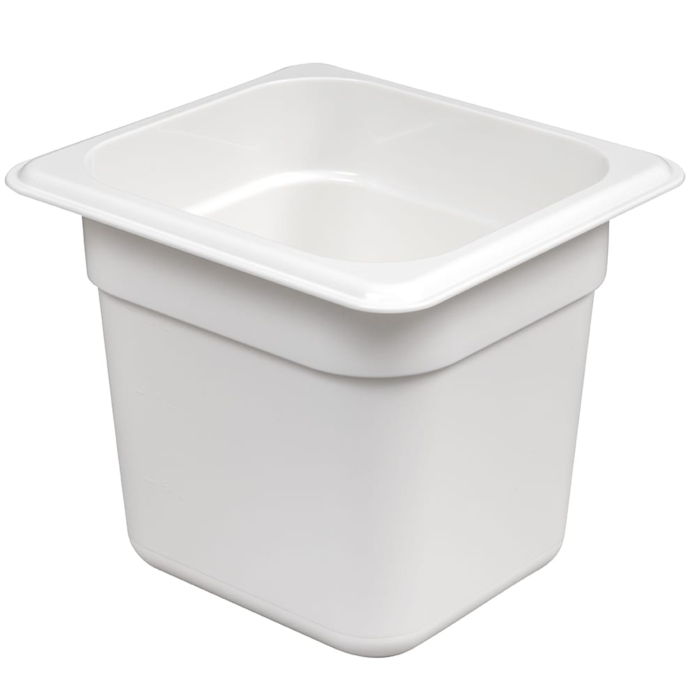 "Cambro 66CW148 Camwear Food Pan - 1/6 Size, 6""D, White"