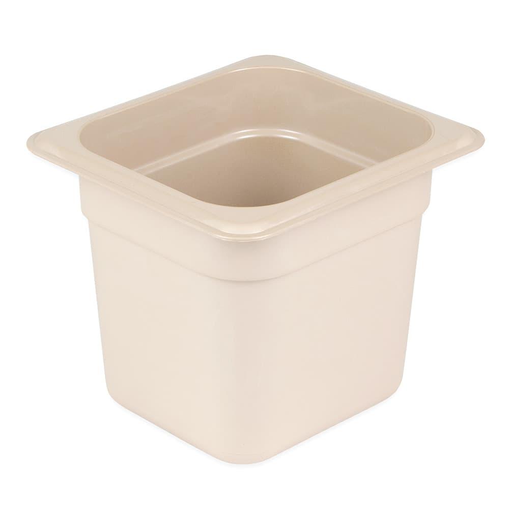 "Cambro 66HP772 X-Pan 1/6 Size Food Pan - 6""D, Non-Stick, Sandstone"