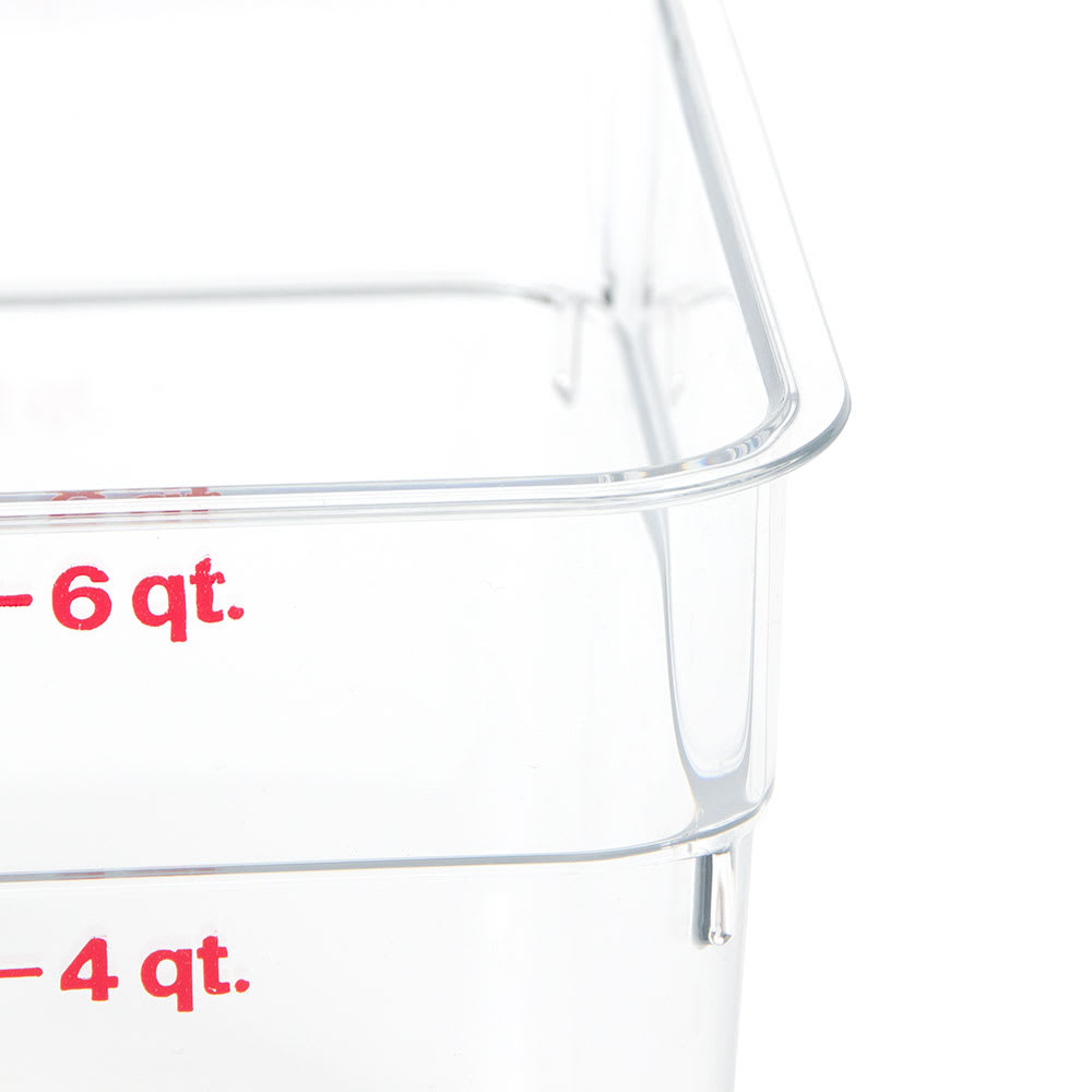 Cambro 6SFSCW135 6-qt CamSquare Food Container - Clear