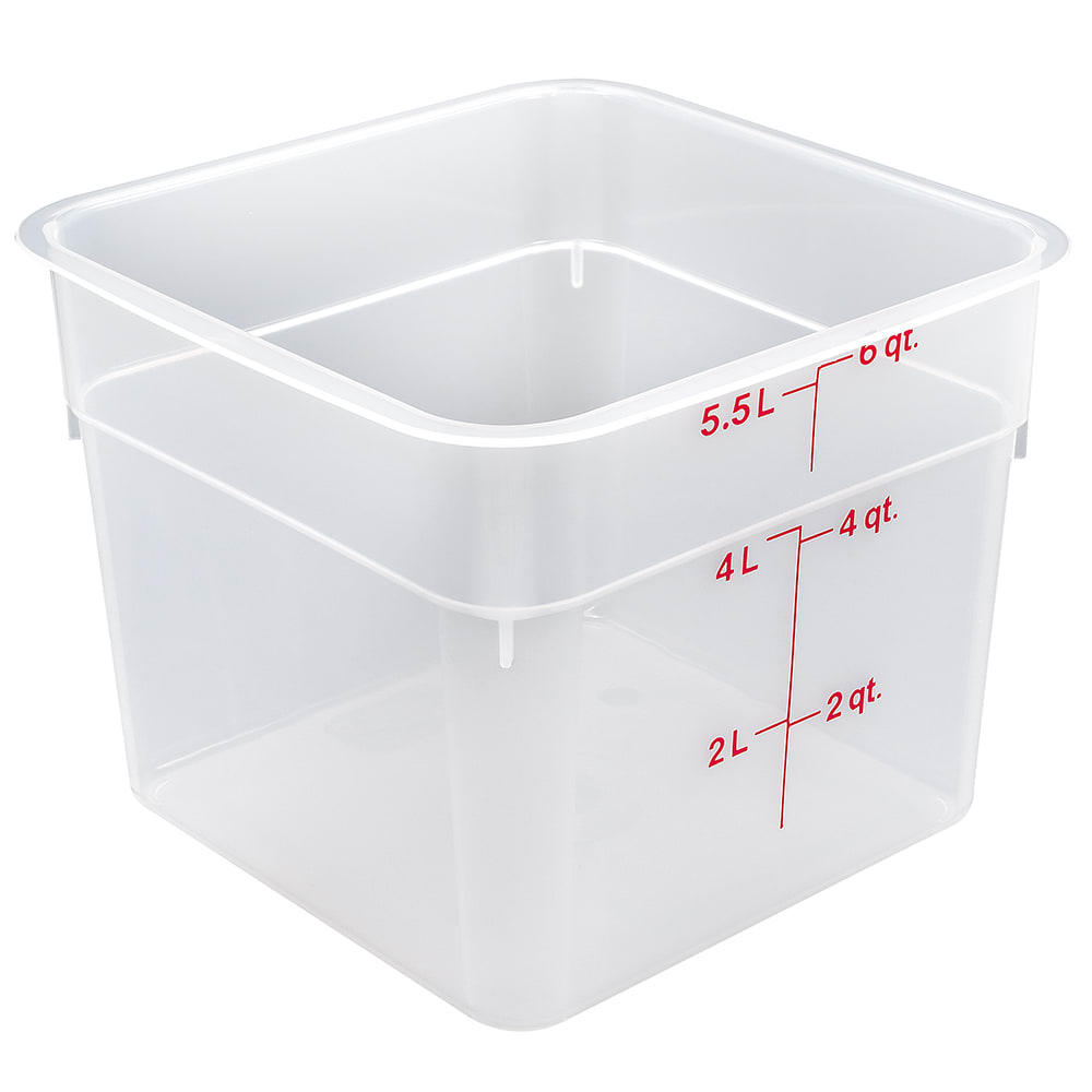 Cambro 6SFSPP190 6 qt CamSquare Food Container - Translucent