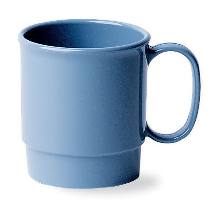 Cambro 75CW401 7 1/2 oz Camwear Cup - Stacking, Slate Blue