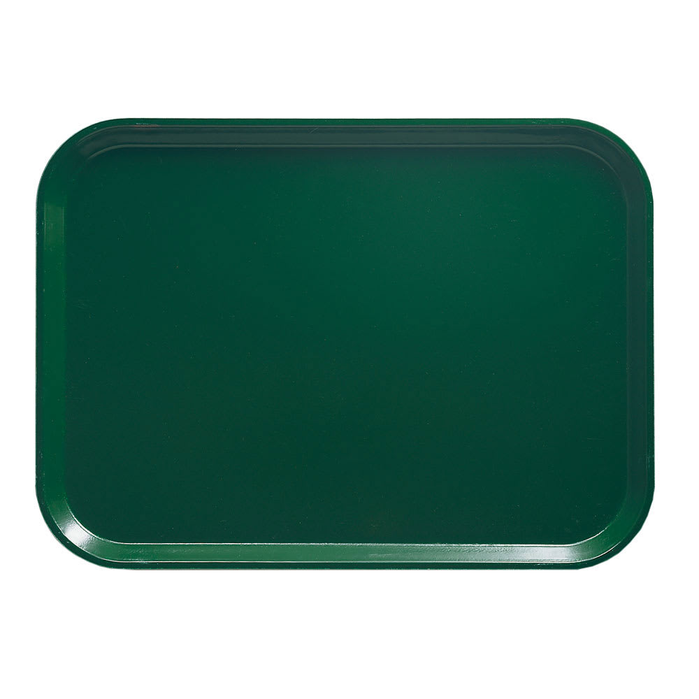 "Cambro 810119 Fiberglass Camtray® Cafeteria Tray - 9.8""L x 8""W, Sherwood Green"