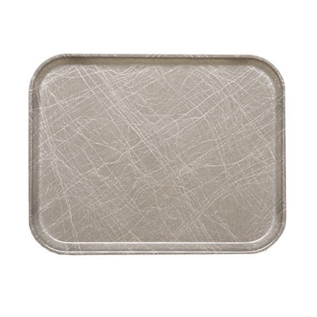 "Cambro 810215 Fiberglass Camtray® Cafeteria Tray - 9.8""L x 8""W, Abstract Gray"