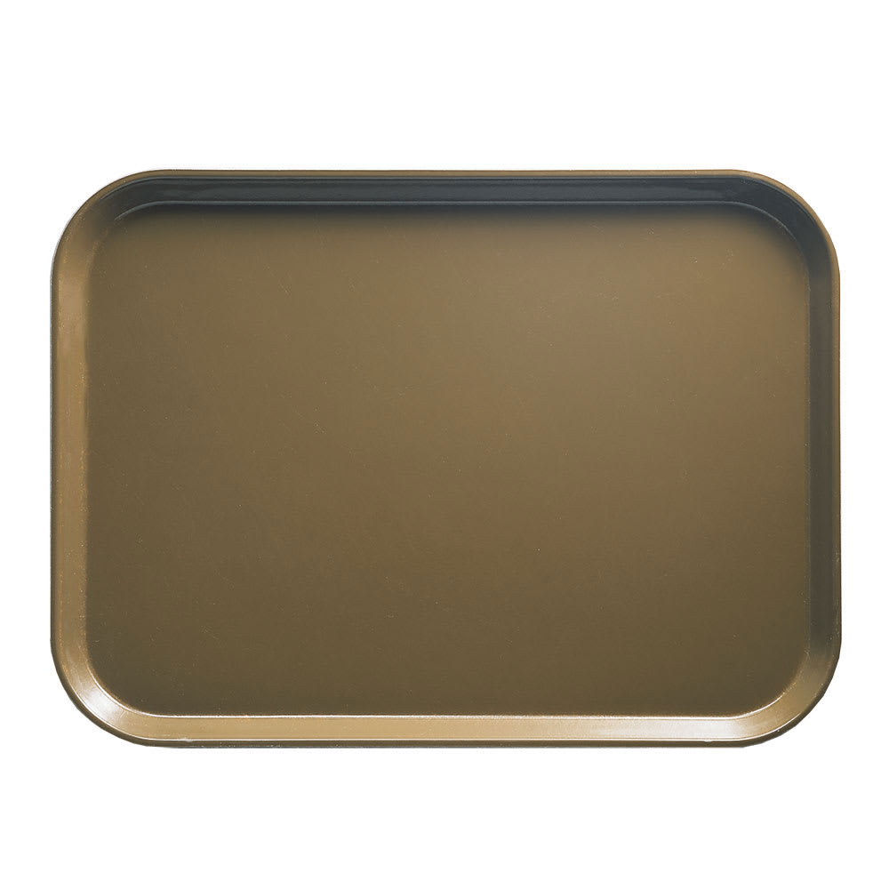 "Cambro 810513 Fiberglass Camtray® Cafeteria Tray - 9.8""L x 8""W, Bay Leaf Brown"