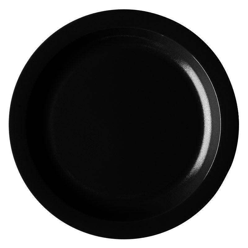 "Cambro 825CWNR-110 8 1/4"" Camwear Plate - Black"