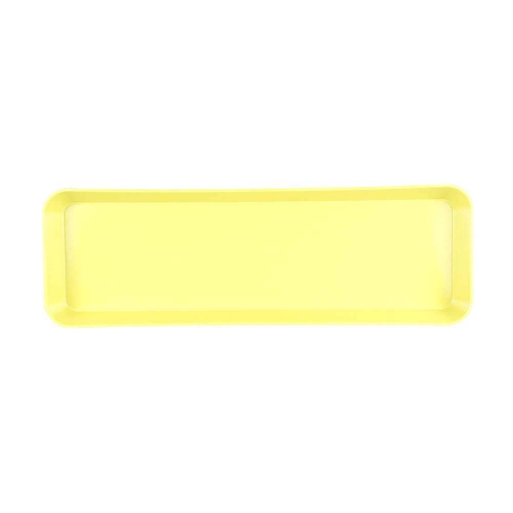 "Cambro 8262MT145 Rectangular Market Display Pan - 8 3/8x25 1/2x2"" Yellow"