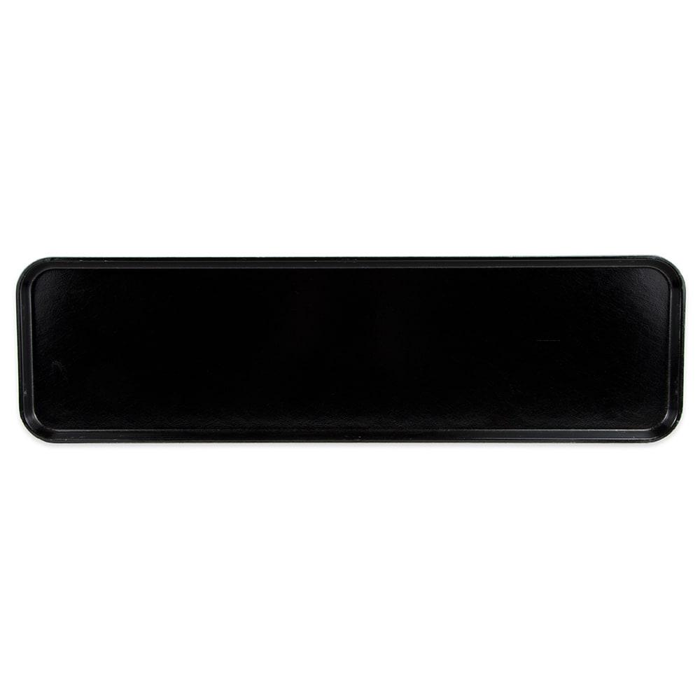 "Cambro 830MT110 Rectangular Market Display Tray - 8-7/16x30x3/4"" Black"