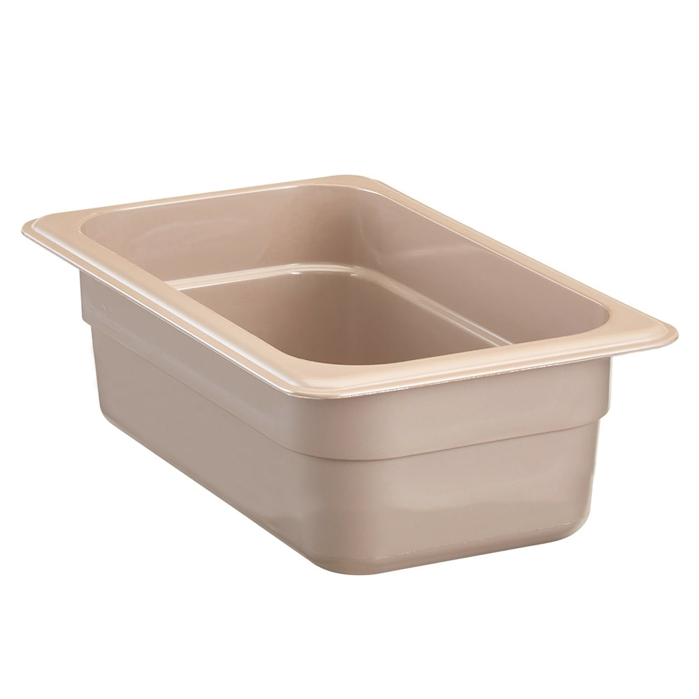 "Cambro 84HP772 High Heat 1/8 Size Food Pan - 4""D, Sandstone"