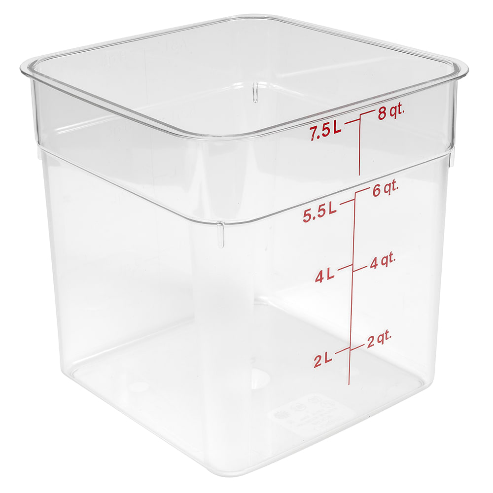Cambro 8SFSCW135 8 qt CamSquare Food Container - Clear