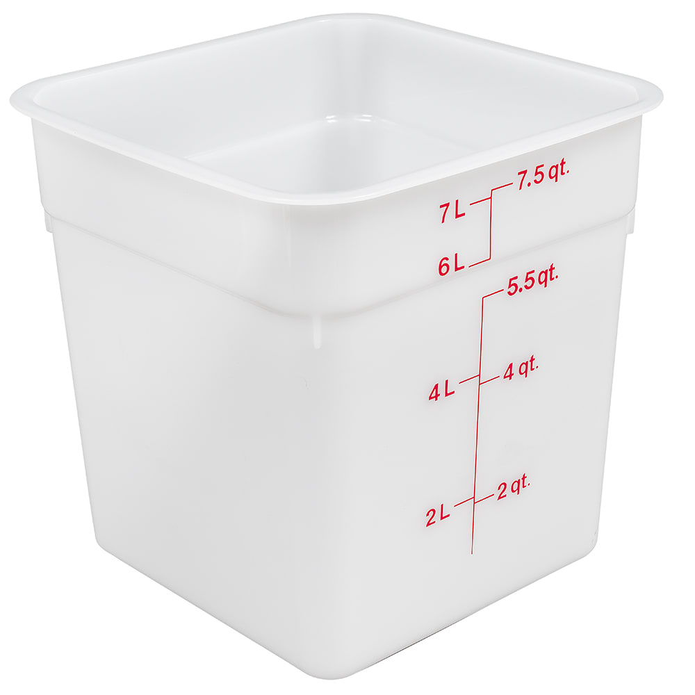 Cambro 8SFSP148 8 qt CamSquare Food Container - Natural White