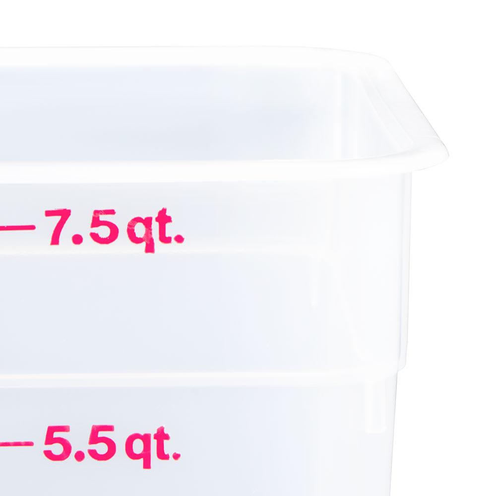 Cambro 8SFSPP190 8 qt CamSquare Food Container - Translucent