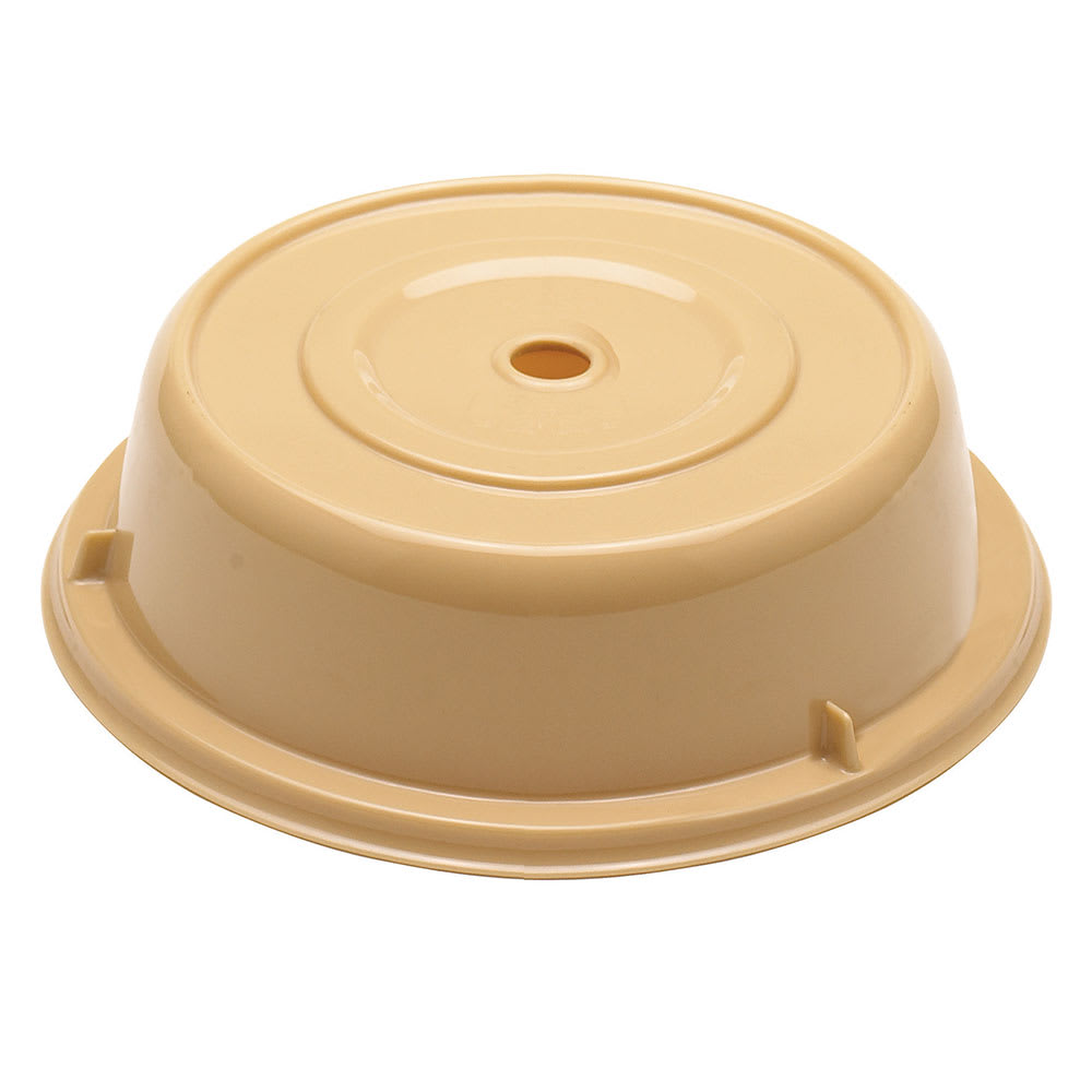 "Cambro 9013CW133 10"" Round Camwear Plate Cover - 2 3/4""H, Beige"