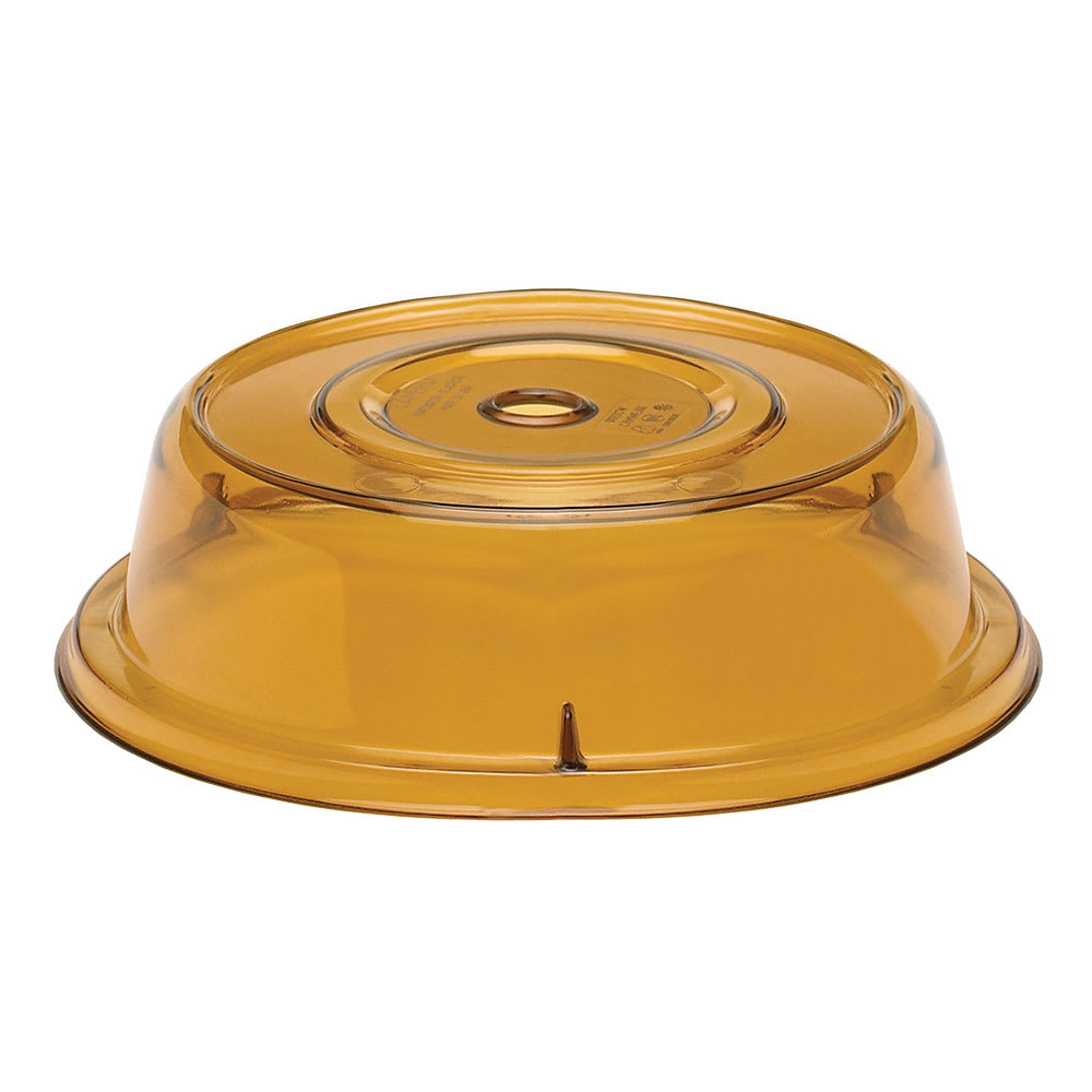 "Cambro 9013CW153 10"" Round Camwear Plate Cover - 2-3/4""H, Amber"
