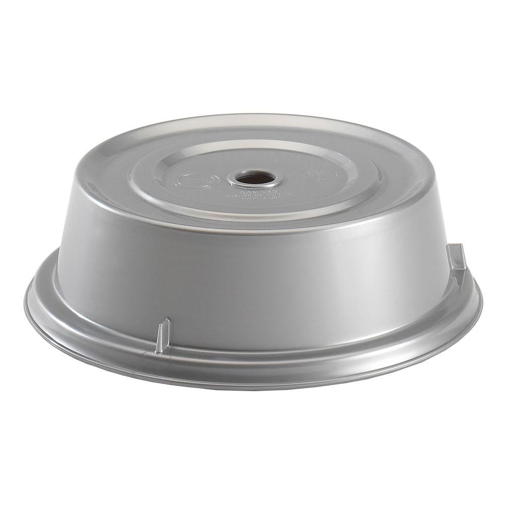 """Cambro 9013CW486 10"""" Round Camwear Plate Cover - 2 3/4""""H, Silver"""