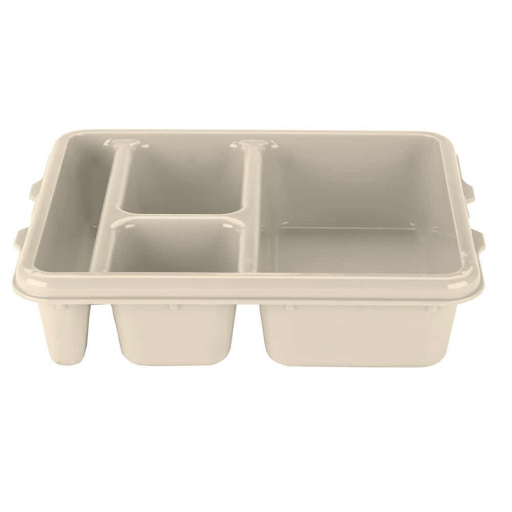 "Cambro 9114CP161 Rectangular Camwear Meal Delivery Tray - 5-Compartments, 9x11x2-1/2"" Tan"
