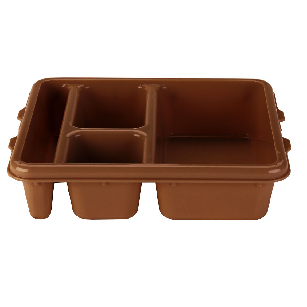 "Cambro 9114CP167 Rectangular Camwear Meal Delivery Tray - 5 Compartments, 9x11x2 1/2"" Brown"