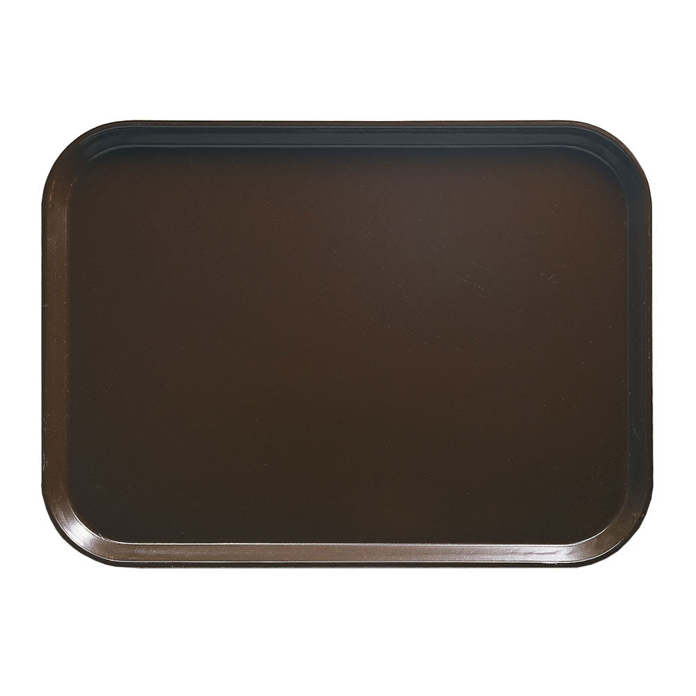 """Cambro 915116 Rectangular Camtray - 8 3/4x15"""" Brazil Brown"""