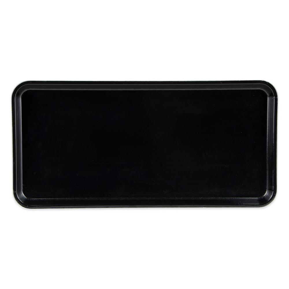 "Cambro 918MT110 Rectangular Market Display Tray - 8-11/16x18x13/16"" Black"