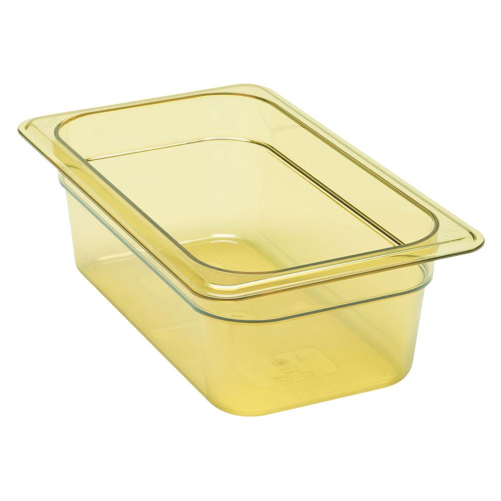 """Cambro 92HP150 H-Pan Food Pan - 1/9 Size, 2 1/2""""D Amber"""
