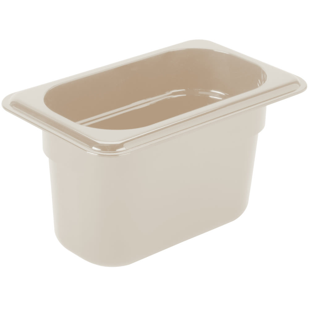 "Cambro 94HP772 X-Pan Hot Food Pan - 1/9 Size, 4""D, Non-Stick, Sandstone"