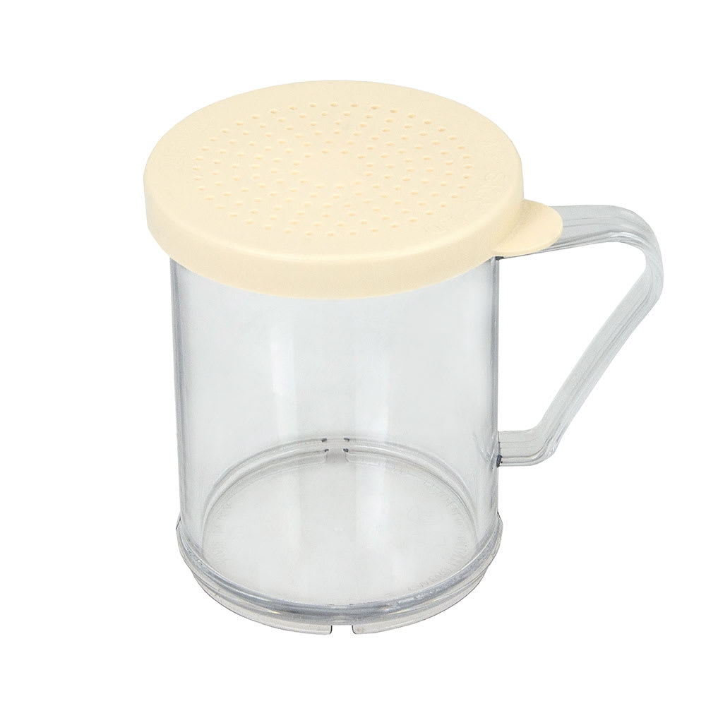 Cambro 96SKRD135 10-oz Camwear Shaker/Dredge - Salt/Pepper Lid, Clear