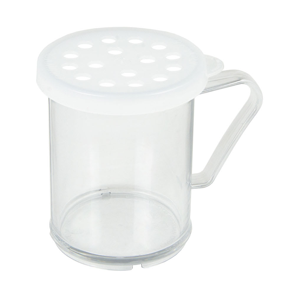 Cambro 96SKRP135 10-oz Camwear Shaker/Dredge - Parsley Lid, Clear