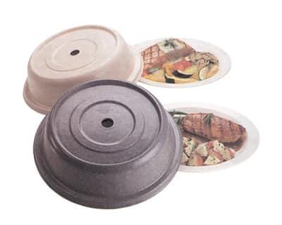 """Cambro 99SMVS101 9-1/8"""" Versa Plate Cover - Fits 9"""" Steelite Distinction Metro, Antique Parchment"""