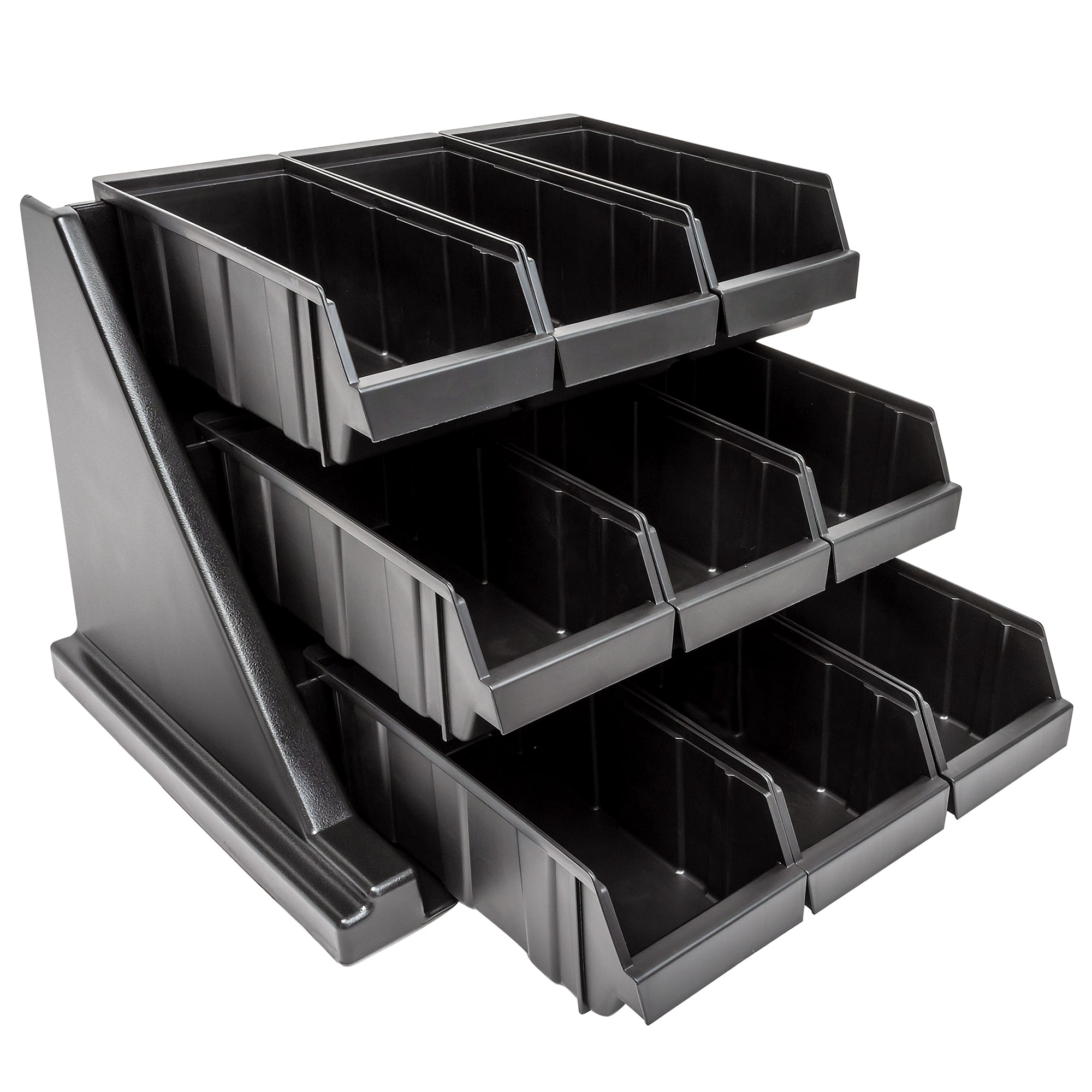 "Cambro 9RS9110 Organizer Rack - 9 Bins, 20 1/8x21 3/8x14 1/4"" Black"