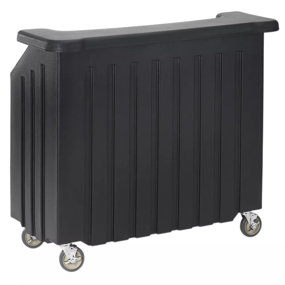 """Cambro BAR540110 54"""" Cambar Portable Bar - 80 lb Ice Sink, Speed Rail, Black"""