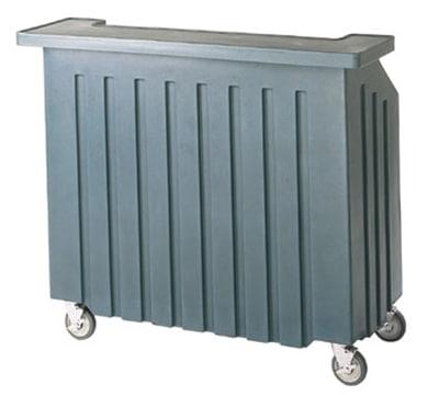 "Cambro BAR540401 54"" Cambar Portable Bar - 100-lb Ice Sink, Speed Rail, Slate Blue"