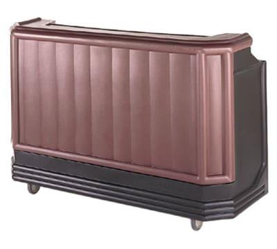 "Cambro BAR650CP421 67-1/2"" Portable Bar - Cold Plate, 80-lb Ice Sink, Black/Granite Green"