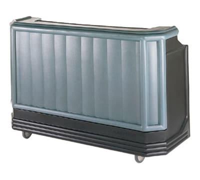 "Cambro BAR730PMT220421 72-3/4"" Portable Bar - Post-Mix Drink System, CO2, Black/Granite Green 220v"