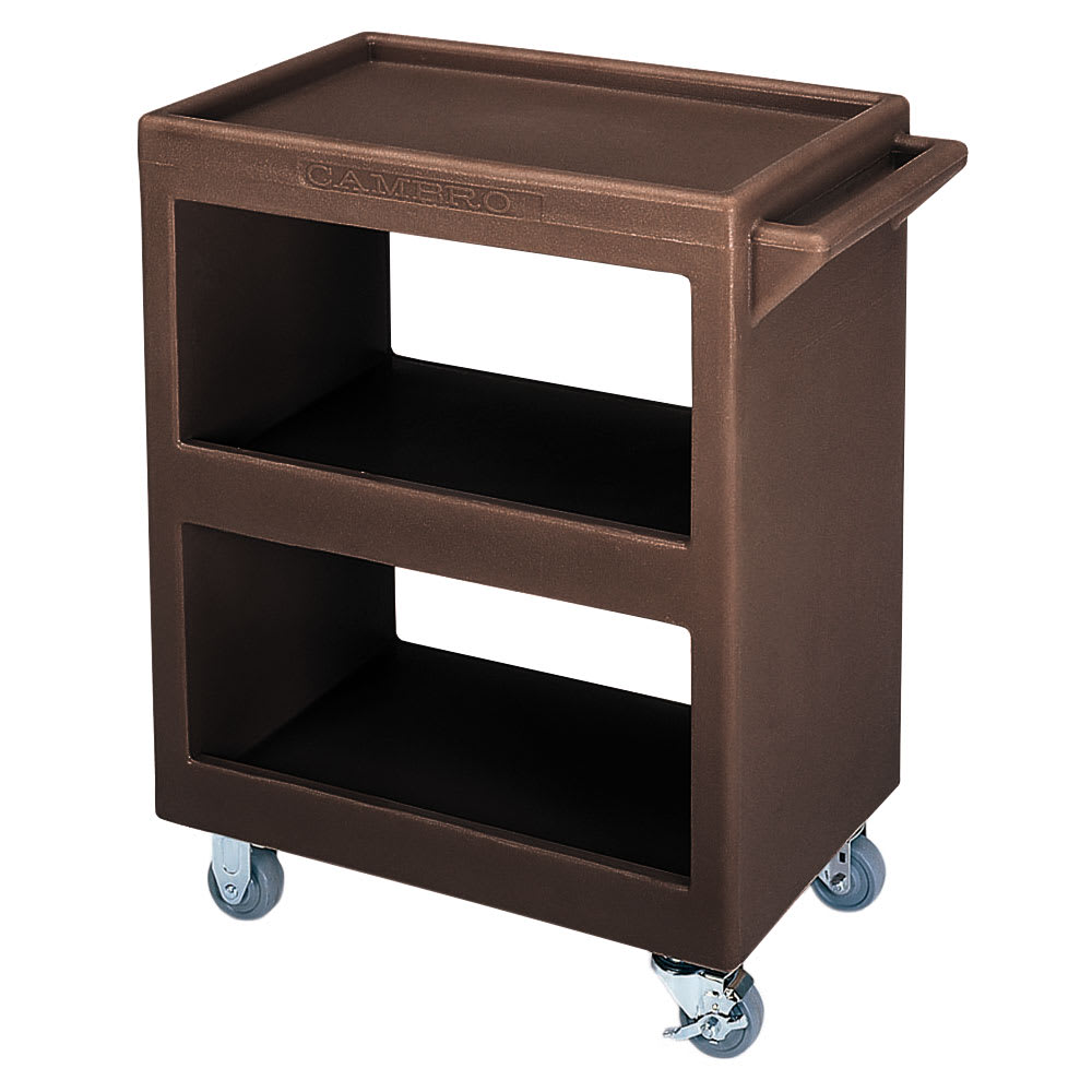 Cambro BC225131 3 Level Polymer Utility Cart w/ 350 lb Capacity, Raised Ledges