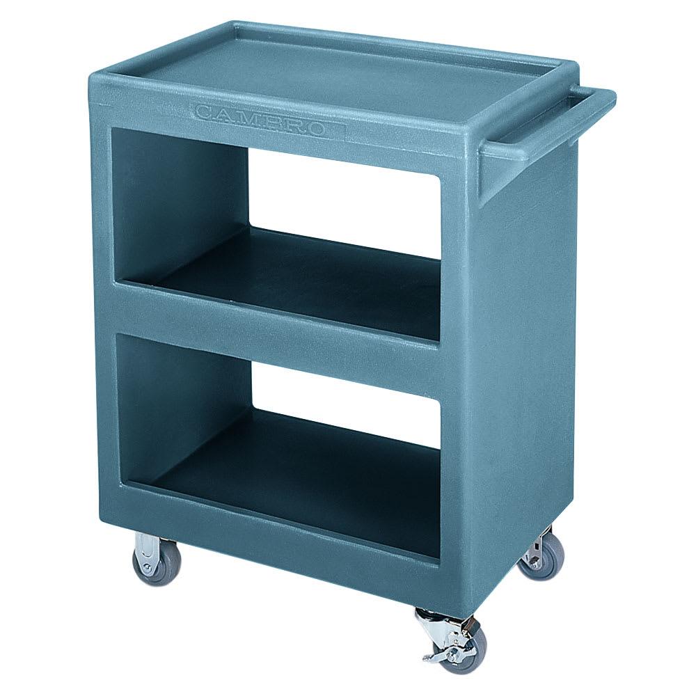 Cambro BC225401 3 Level Polymer Utility Cart w/ 350 lb Capacity, Raised Ledges