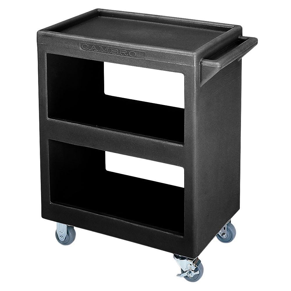 Cambro BC2254S110 3-Level Polymer Utility Cart w/ 350-lb Capacity, Raised Ledges