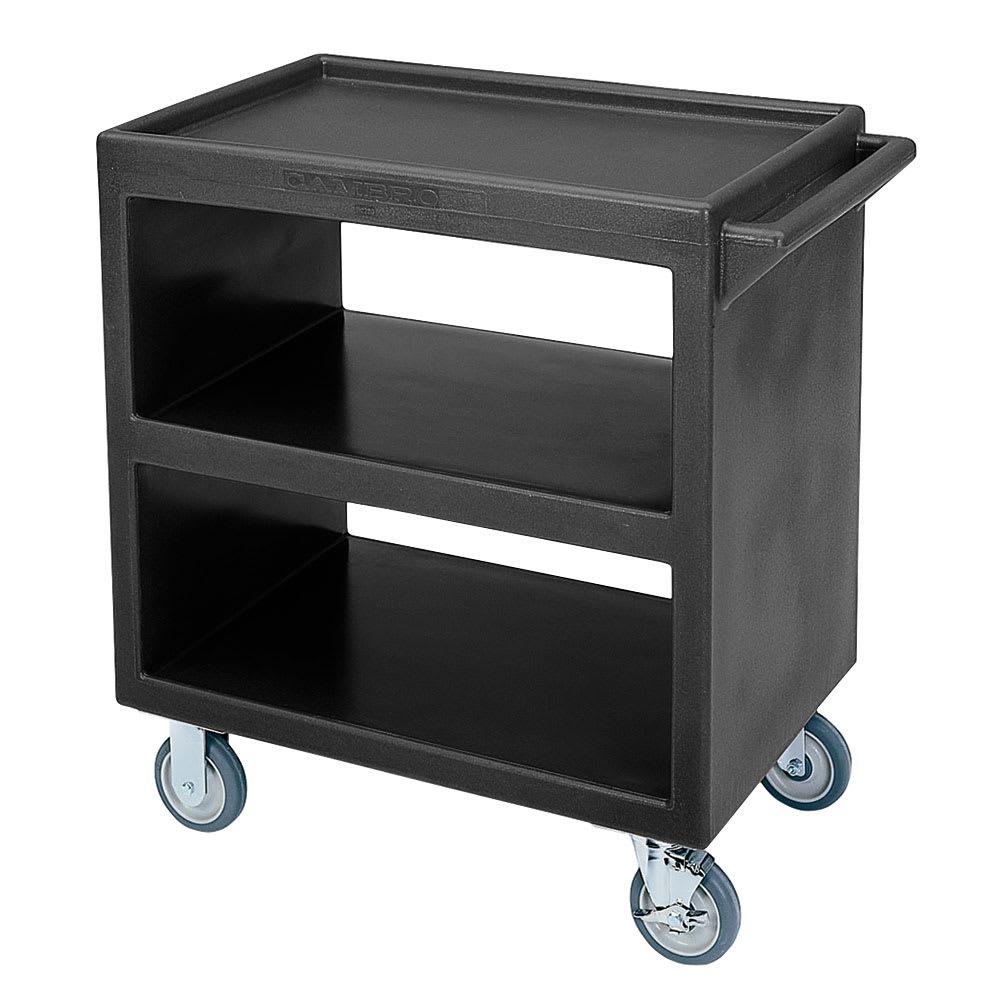 Cambro BC230110 3 Level Polymer Utility Cart w/ 500 lb Capacity, Raised Ledges