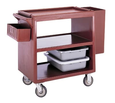 "Cambro BC230180 Service Cart - (3)20x27"" Shelves, 500-lb Capacity, Gray"