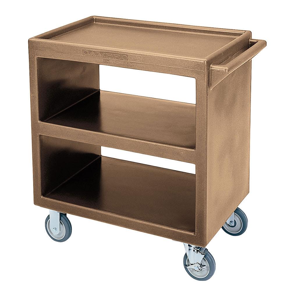 Cambro BC2304S157 3-Level Polymer Utility Cart w/ 500-lb Capacity, Raised Ledges