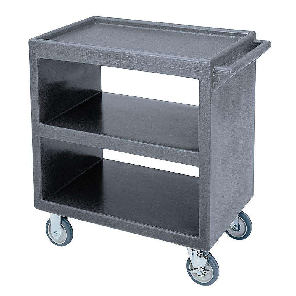 Cambro BC2304S191 3 Level Polymer Utility Cart w/ 500 lb Capacity, Raised Ledges