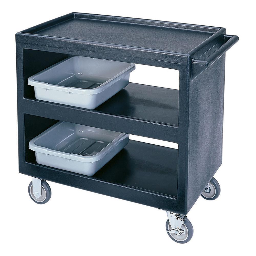 Cambro BC235110 3 Level Polymer Utility Cart w/ 500 lb Capacity, Raised Ledges