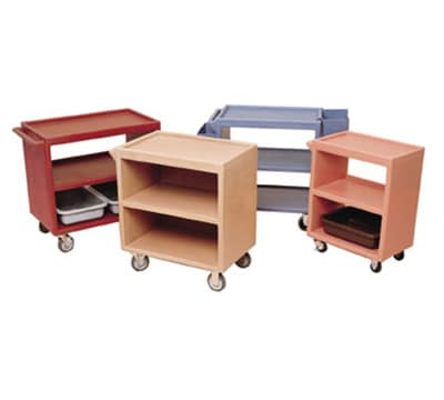 "Cambro BC2354S180 Service Cart - (3)21x32"" Shelves, (4)Swivel Castors, Gray"