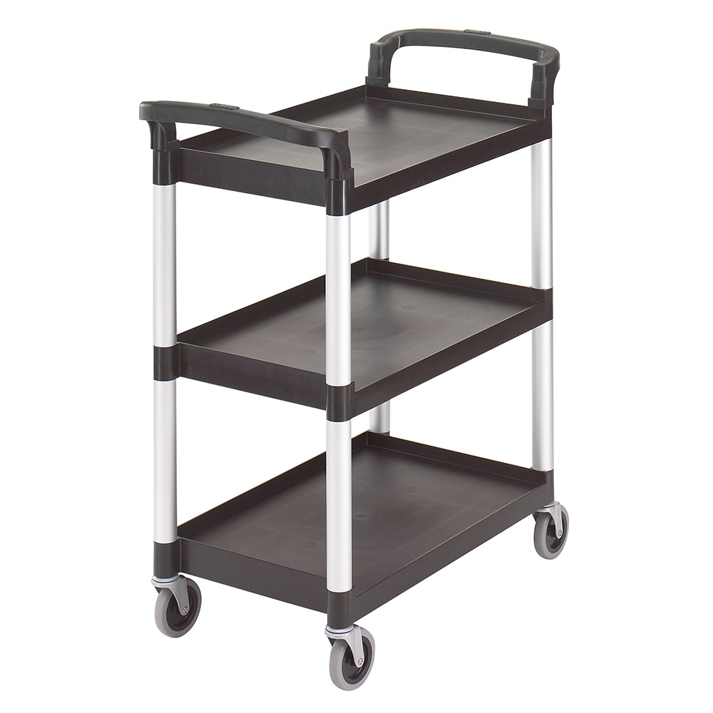 Cambro BC331KD110 3 Level Polymer Utility Cart w/ 300 lb Capacity, Raised Ledges