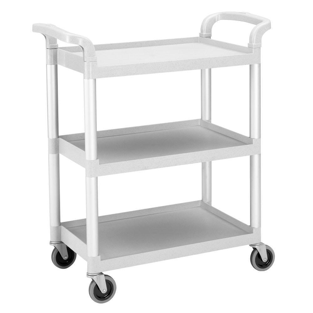 Cambro BC331KD480 3-Level Polymer Utility Cart w/ 300-lb Capacity, Raised Ledges