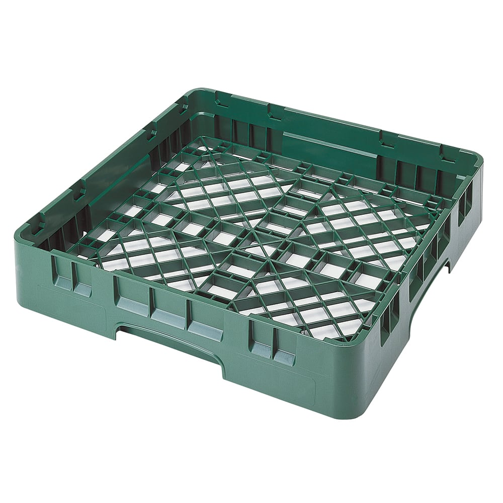 "Cambro BR258119 Camrack Base Rack - Full Size, 1 Compartment, 4""H, Sherwood Green"