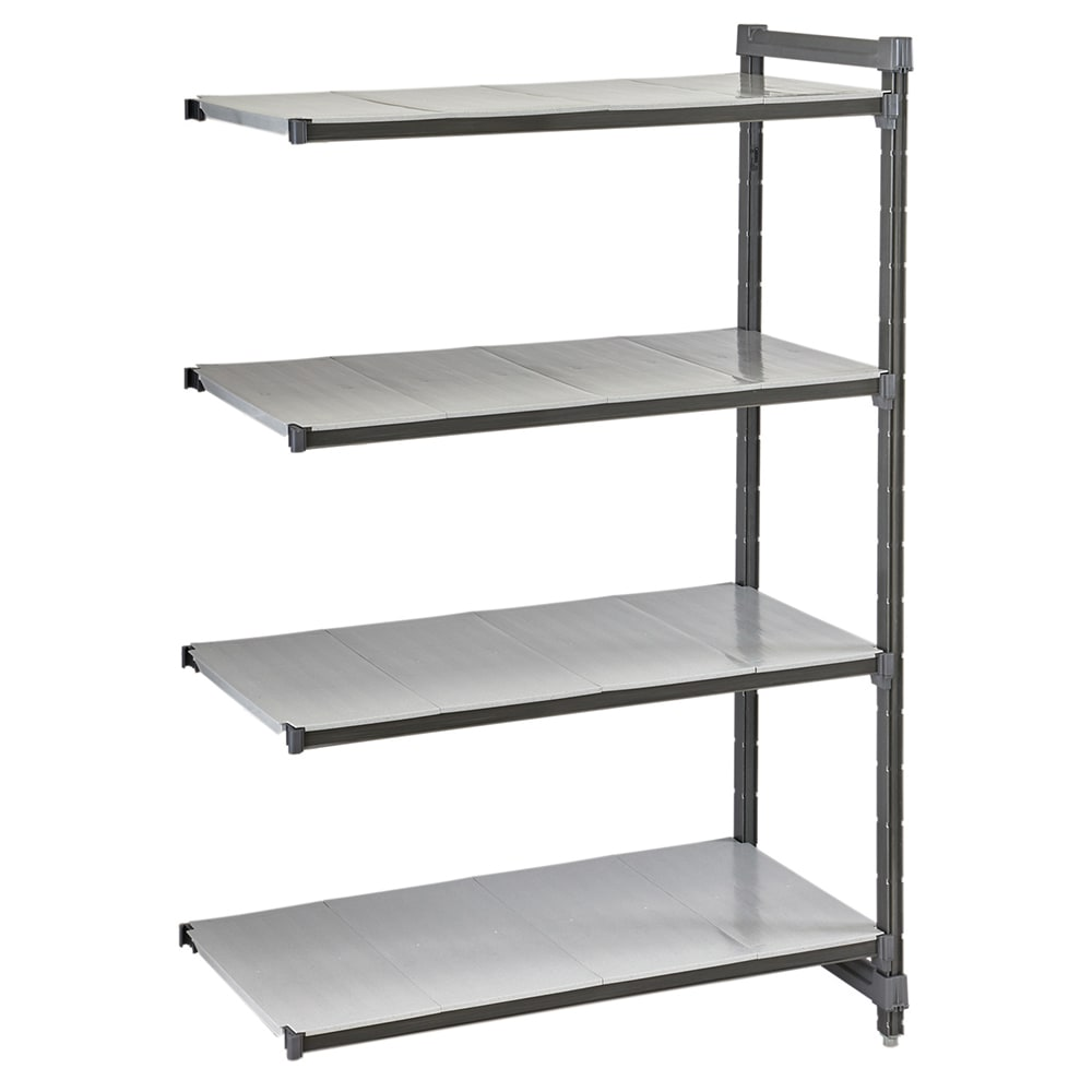 "Cambro CBA183084S4580 Polymer Solid Add-On Shelf Kit - 30""W x 18""D x 84""H"