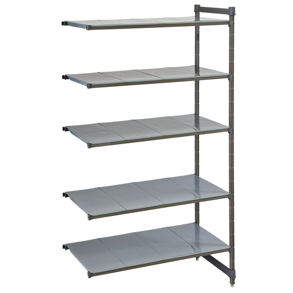 """Cambro CBA183684VS4580 Polymer Louvered/Solid Add-On Shelf Kit - 36""""W x 18""""D x 84""""H"""